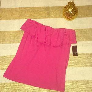 Crown & ivy pink ruffle top